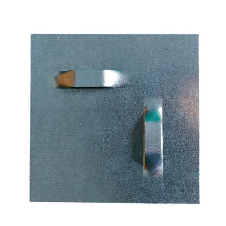 Пл-02 Пластина цинковая (скрытый крепеж для зеркала)