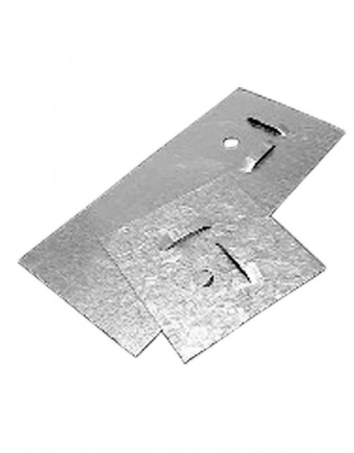 пл 04 Пластина цинковая (скрытый крепеж для зеркал)