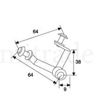 Гл-411 Крепление стеклянного куба тройное