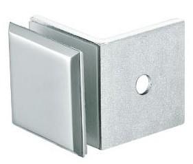 Коннектор стекло-стенка 90 хром