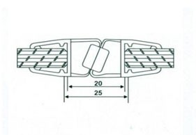 Профиль магнитный 10мм(2,2м) АРТ ГЛ 1008 под углом 180