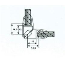 Профиль магнитный 10мм(2,2м) АРТ ГЛ 1006 под углом 90