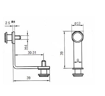 Гл-405 Крепление стеклянного куба двойное