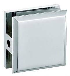 Коннектор стекло-стенка (одно отверстие) хром